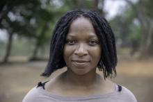 Foto på Florence Mudukuti, butiksanställd och fackligt förtroendevald i Zimbabwe